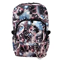 Space Galaxy Pattern Backpack Rucksack | Black School College Cosmos Goth Rock Emo Skate Bag