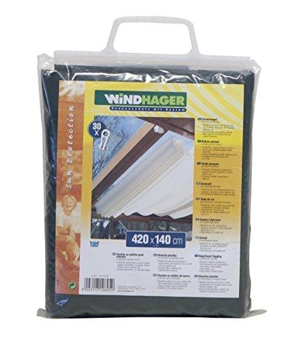 Windhager Voile solaire pour la technique de tension des câbles, vert uni 420 x 140 cm