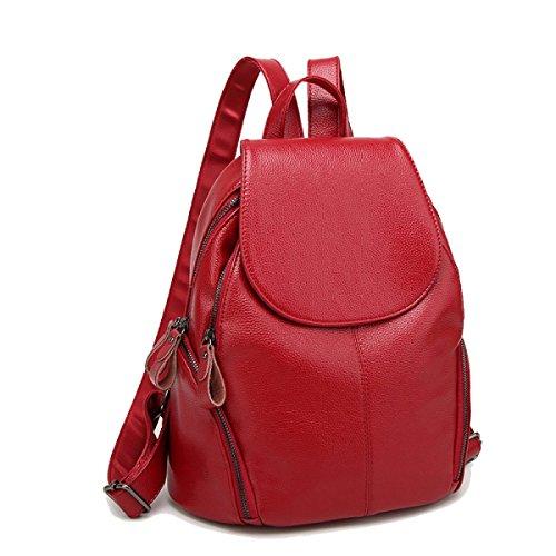 Damen Umhängetasche Klassisch Kreativ Student Im Freien Freizeit College Wind Jugend Wild Bag Red