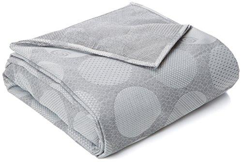 ESTELA Gijon-Boutis/Couvre-foulard à Tissu jacquard pour lit de 150/160 cm 280 x 250 cm-gris Anthracite