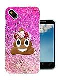 002414 - Emoji Smiley Face Floral Poo Princess Design Wiko