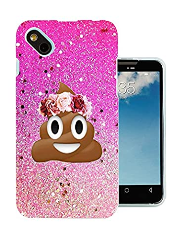 002414 - Emoji Smiley Face Floral Poo Princess Design Wiko Sunny / Wiko B-Kool Fashion Trend Protecteur Coque Gel Rubber Silicone protection Case