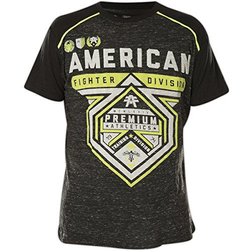 American Fighter by Affliction T-Shirt Cameron Weathered Schwarz Schwarz