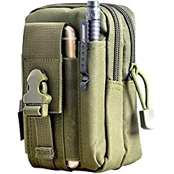 Tactical Molle Bolsa de cintura–SODIAL (R) Mochila, Cintura Bolsas hombre Outdoor Sport Casual Cintura Pack Bolso Funda para teléfono móvil para el teléfono del Ejército Verde