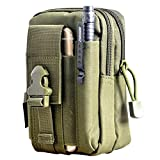 Sports Outdoors Best Deals - Tactical Molle Bolsa de cintura-SODIAL (R) Mochila, Cintura Bolsas hombre Outdoor Sport Casual Cintura Pack Bolso Funda para teléfono móvil para el teléfono del Ejército Verde