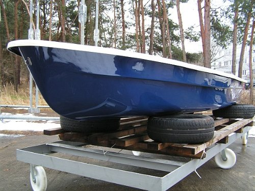 ANKA Ruderboot 4,20m x 1,40m Dunkelblau/Grau