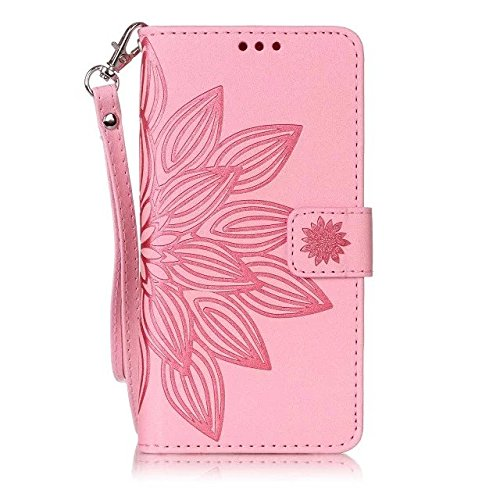 Etuse Custodia Per iPhone 5/5S/SE,iPhone SE Cover Blu,iPhone 5S Custodia in Pelle,Elegante Floreale Puro Color Portafoglio Leather PU Antigraffio Protettivo Case Cover Con Cinghia Ultra Sottile Pu Wal Vintage1