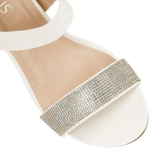 Lotus Ace, Chaussures À Talons Blancs Pour Femmes (blanc / Glitz)