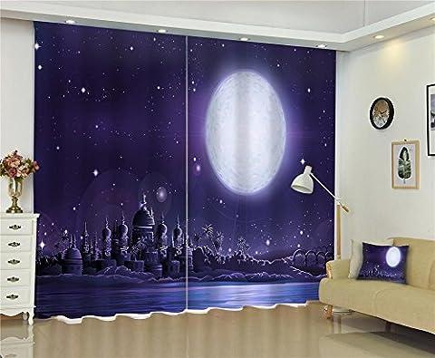 Dbtxwd Polyester 3D Espace visuel Création de château de lune Impression digitale Coupe d