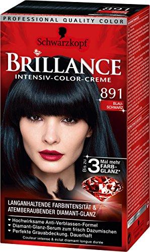 Brillance Intensiv-Color-Creme 891 Blau-Schwarz, 3er Pack (3 x 143 ml)