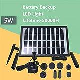 9V/5W Pompe À Eau Solaire De Fontaine Avec Batterie De Secours Et Lumières LED De Solaire Panneau Kit Pompe 220L/H