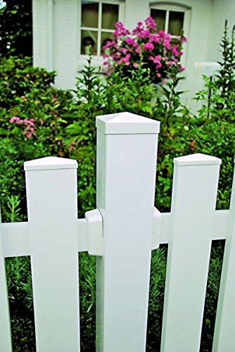 Kunststoff Tor für Gartenzaun Toulon B300 x H80 cm, weiß
