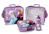 Elsa und Anna Trinkflasche und Brotbox Set Lunchbox Frozen Kindergartentasche mit Brotzeitdose und Flasche Pausenset 48969
