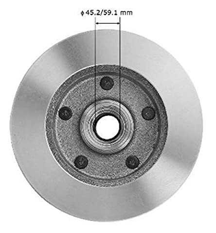2x Brake discs with Front Hub (1501994-2001/Ford F 1501994–1996