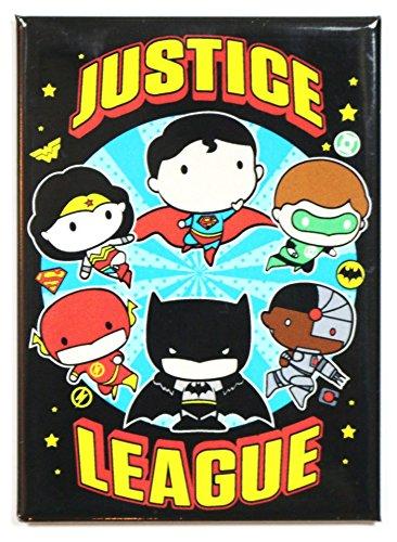 Ata Boy DC Comics Chibi Justice League 6,3x 8,9cm Magnet für Kühlschrank und Schließfächer