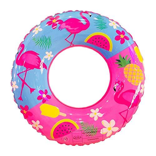 HCHD 50/60/70/80/90 cm Aufblasbare Flamingo Print Schwimmring Erwachsenen Schwimmbad Float Spaß Sommer Spielzeug (Color : 70cm)