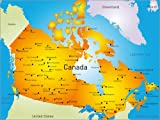 Poster 40 x 30 cm: Kanada - Landkarte von Editors Choice - Hochwertiger Kunstdruck, Kunstposter