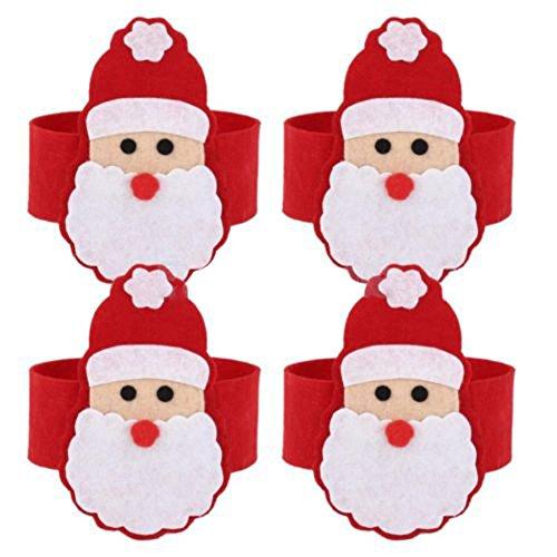 SA Set von 4 Weihnachtsmann Weihnachten Serviettenringe Holders Dinner Table Decoration (Weihnachts-dinner-set)