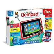 """My First Clempad 7"""" Plus Con tastiera e custodia Clempad - Computer Clementoni 16604 - Il primo tablet sicuro a misura di bambino con tante app divertenti, video e contenuti educativi, per imparare giocando anche con la realtà aumentata! - Co..."""