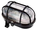 as - Schwabe Ovalleuchte 60 W, 230 V für Leuchtmittel E 27 nicht enthalten, Aussenbereich Ip 44, schwarz 56111