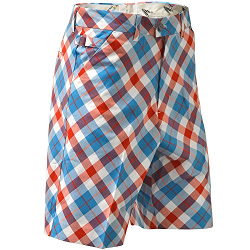 Royal & Awesome HERREN-GOLFSHORTS - Mehrfarbig (Plaid a Blinder)-36