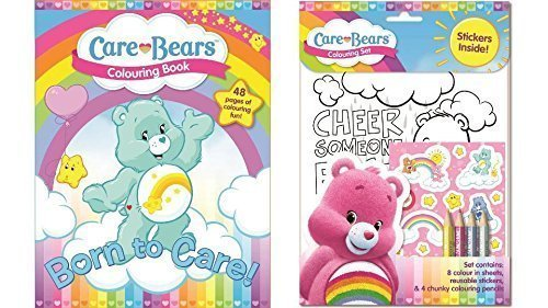 Image of Care Bear Colouring Book and Colouring Set - SET OF 2 ITEMS