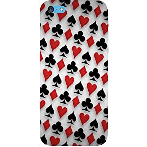 Casotec Playing Card Icons Design Hard Back Case Cover for Apple iPhone 5C