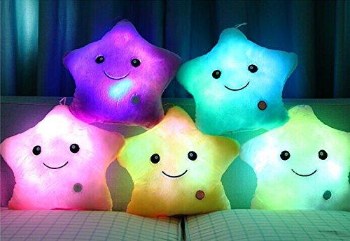 Rainbow Fox Weihnachten Sterne Lichtkissen für Weihnachten Home Party Dekoration (white)