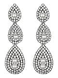 Vijiv Gatsby Earrings Vintage 1920s Drop Chandelier Flapper Jewelry Accessories