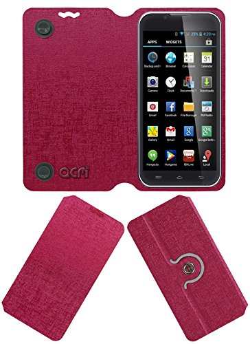 Acm Designer Rotating Flip Flap Case for Iball Andi 5-E7 Mobile Cover Pink  available at amazon for Rs.399