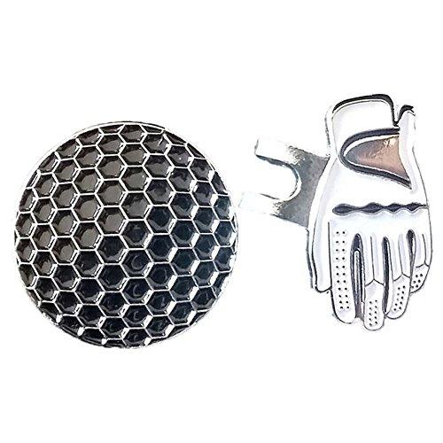 pushfocourag Golf Ball Marker mit Magnetverschluss Wurfspiel Handschuh Hat Cap Visier Clip Training AIDS, White Glove (Taylormade Golf-gürtel)