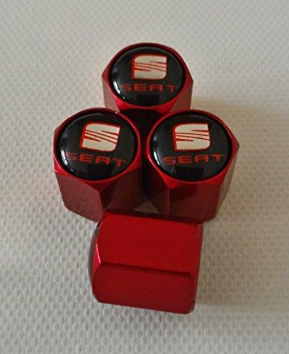 Speed Demons Seat Valve Rouge poussière enjoliveurs Exclusive aux États-Unis, avec Tous Les modèles MII Ibiza Leon Toledo Alhambra Capuchon de Val