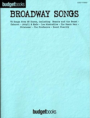 Budgetbooks: Broadway Songs (Easy Piano)