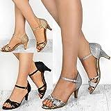 Fashion Thirsty Damen Sandaletten mit Mittelhohem Absatz - Offener Zehenbereich