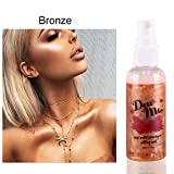 Oyalaiy Body Highlighter Makeup Setting Spray Rose Water Priming Moisturizing Pearlescent Liquid Metall Highlighter A04