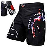 WARRIOR MMA Fight Hosen Short Muay Thai Kickboxen UFC Kampfsport Boxen Training FOX-FIGHT - S