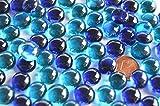 70 g. Deko Mosaiksteine Glasnuggets 10-12mm Blaumix ca. 50 St.