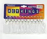 Harts - Pack de 12 Porte-Clés d'Identité pour Glisser vos Coordonnées - 3,5 x 4,5cm