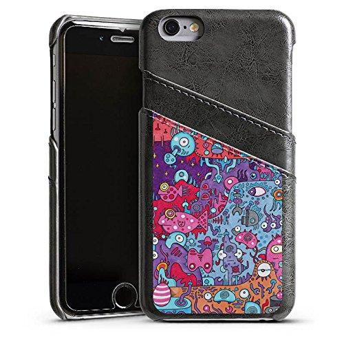 Apple iPhone 5s Housse Étui Protection Coque Bande dessinée Graphique Graphique Étui en cuir gris