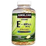 Kirkland Signature Vitamin E 400 I U 268mg 500 Softgel capsules