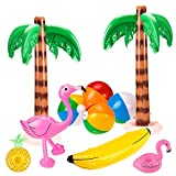 SHI WU 10 Pack Jumbo Gonflable Palmiers Flamingos Jouets Gonflable Banane Titulaire...