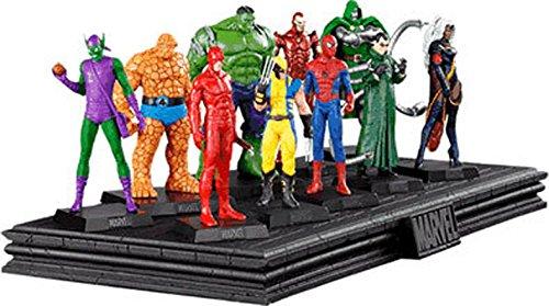 Expositor de Resina para 10 figuras de la colección Marvel Figurine Collection