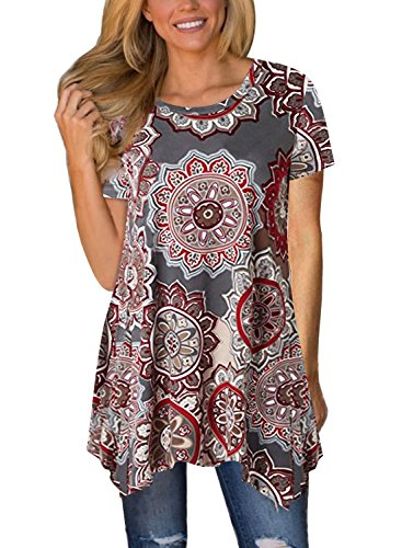 Happy Sailed - Camisas - para Mujer Rojo Rosso (48-50) X-Large
