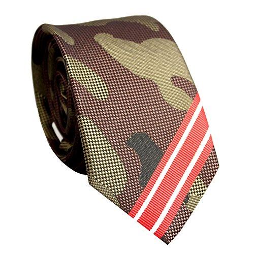 ss-Stil Armee grün Camouflage Jacquard passender Streifen Design Männer Geschenk Boxed Tie (Grüner Pfeil Anzug)