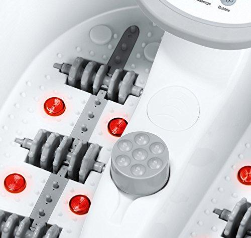 Beurer FB 50 Fußbad, mit Fußreflexzonenmassage, Pediküre-Aufsätzen und Wasserheizung -