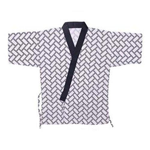 Japanisches Restaurant Sushi Chef Mantel Half Sleeve Work Uniformen Jacke für Unisex, # 27 (Mäntel Hosen Chef)