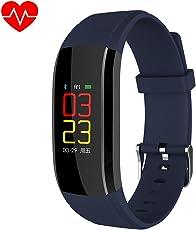 Zantec Activity Tracker IP67, Orologio Cardiofrequenzimetro Contapassi da Polso Donna, per Outdoor Corsa e Ciclismo per iOS Android, Nero