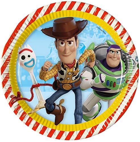 Procosco 26955 Diam 23 Speiseteller, mehrfarbig, 23 Stück (Jessie Toy Story-party)