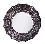 #7: Pindia Plastic Designer framed Wall Mounted Decorative Round Mirror