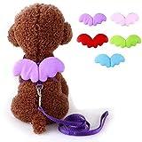 Make Me Chic Hundegeschirr mit Engel Flügel Welpengeschirr Hundehalsband Hundeleine (S, Rosa)